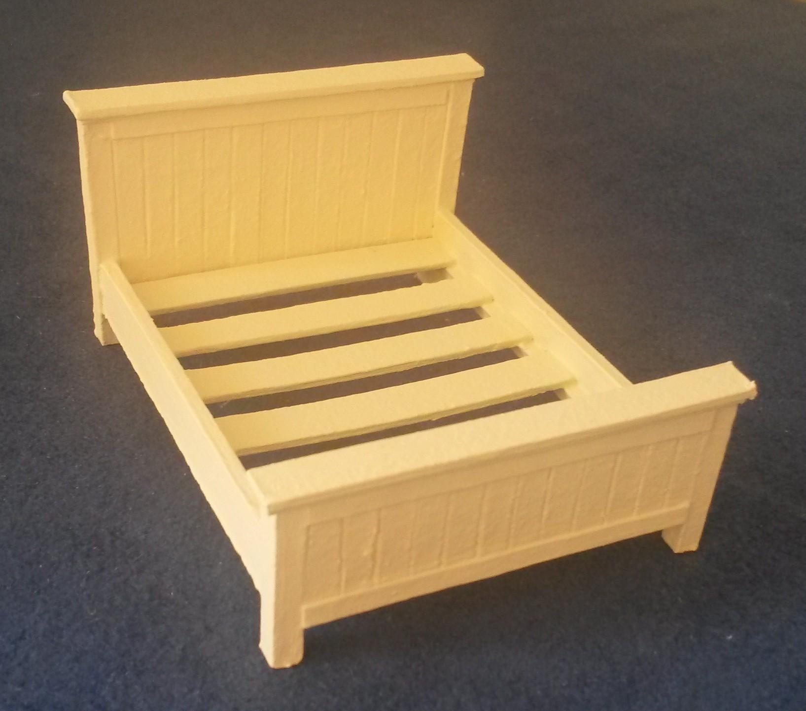 DHZ Pakket Bed, 2 persoons Landelijk 1:24 - Make it mini